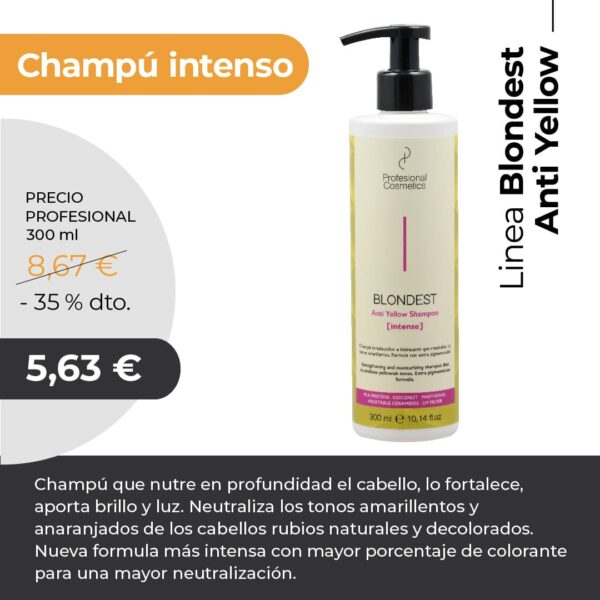 Champú Intenso Anti Yellow Profesional cosmetics