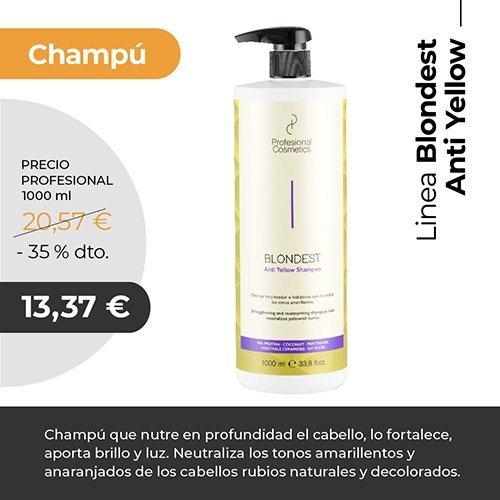 Champú Anti Yellow Profesional cosmetics