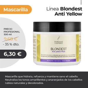 Mascarilla Anti Yellow Profesional cosmetics