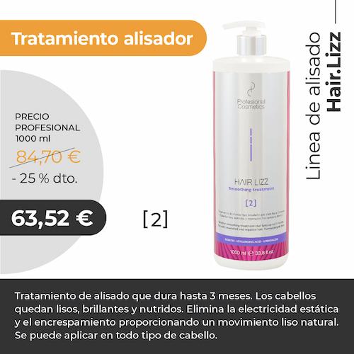 Tratamiento Hair Lizz Alisador Deep Cleansing Shampoo 1000ml. Limpia en profundidad, nutre e hidrata el cabello. Con Keratina y Ácido Hialurónico.