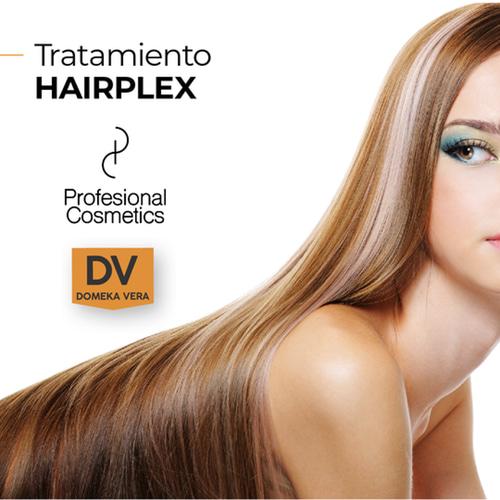 atamiento Hairplex 500ml por frasco. Se aplica en tres fases que logran una hidratación en profundidad y fortalece y sella el cabello.